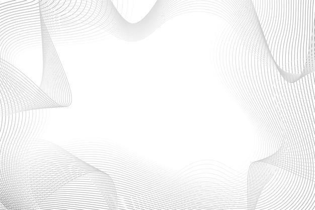 Fond blanc avec espace copie de lignes abstraites