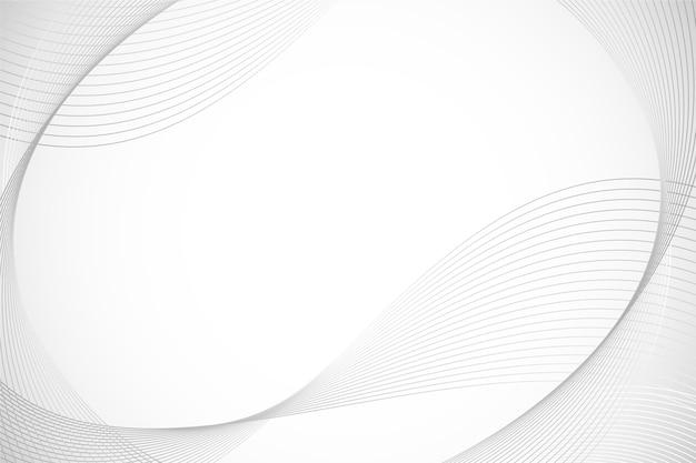 Fond blanc avec espace de copie de lignes circulaires