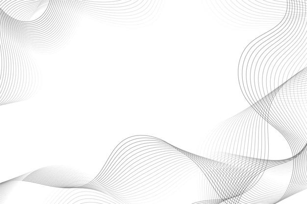 Fond blanc avec espace de copie de lignes ondulées