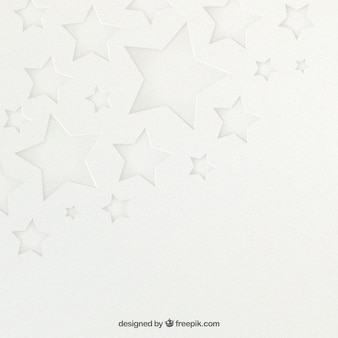 Fond blanc étoiles