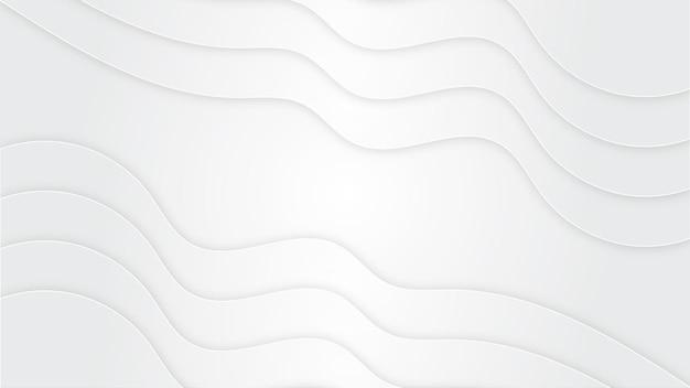 Fond blanc avec forme de vague
