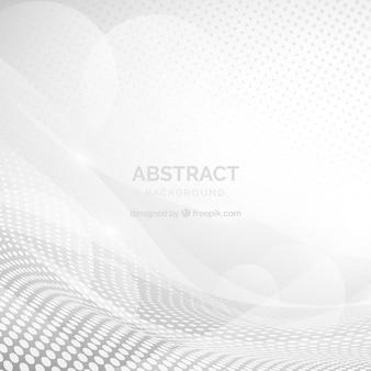 Fond blanc avec des formes abstraites
