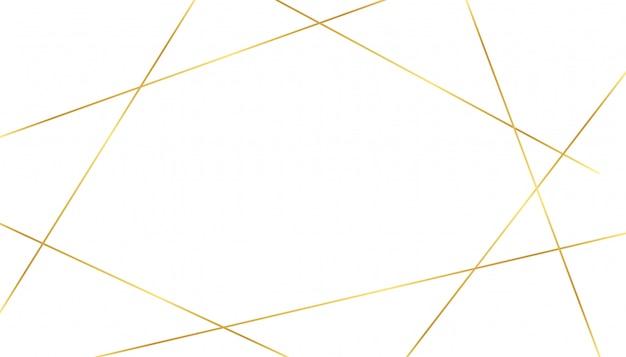 Fond blanc avec des formes de lignes de luxe dorées