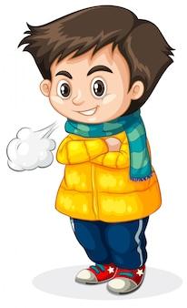 Fond blanc froid enfant