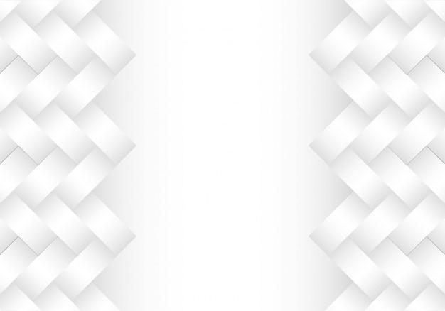 Fond blanc géométrique gris moderne