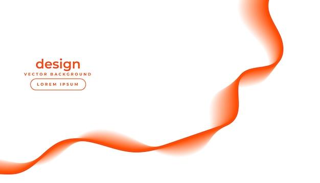 Fond blanc avec des lignes ondulées fluides orange