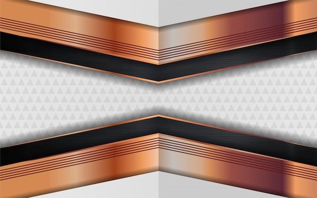 Le fond blanc de luxe se combine avec des lignes dorées.