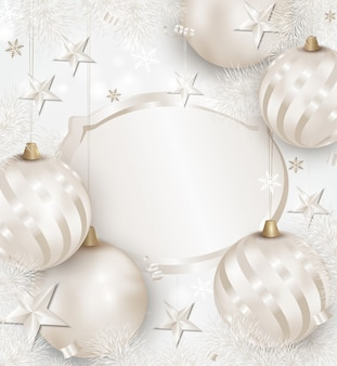 Fond blanc de noël et du nouvel an.