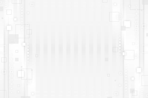 Fond blanc numérique futuriste
