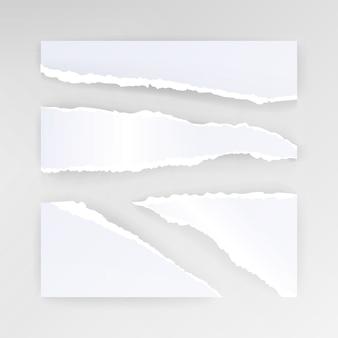 Fond blanc de papier déchiré