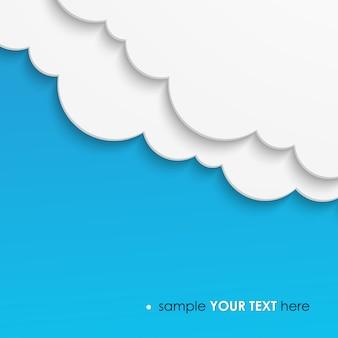 Fond blanc papier nuages