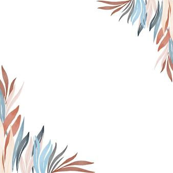 Fond blanc avec des plantes sauvages colorées
