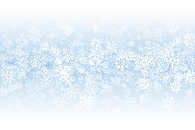 Fond blanc de la saison d'hiver