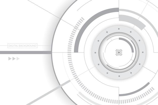 Fond blanc avec technologie