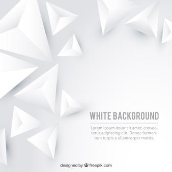Fond blanc avec des triangles