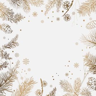 Fond blanc avec vecteur de décoration hiver