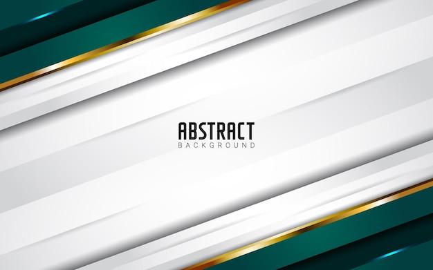 Fond blanc vert abstrait moderne