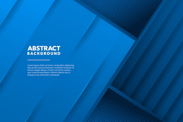 Fond bleu abstrait géométrique moderne
