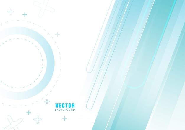Fond bleu abstrait géométrique.