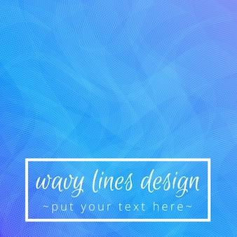 Fond bleu abstrait avec des lignes ondulées