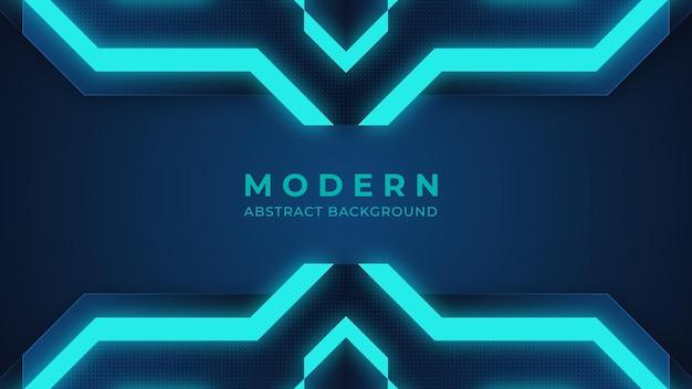 Fond bleu abstrait moderne éclairage fond numérique