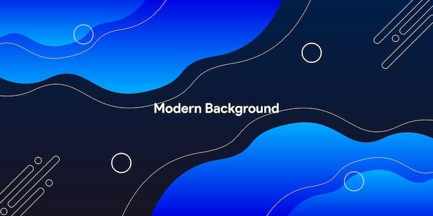 Fond bleu abstrait moderne