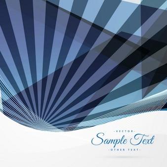 Fond bleu abstrait avec des rayons qui sortent du fond