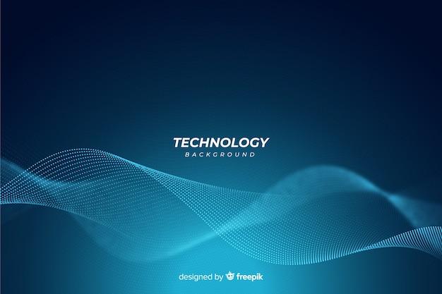 Fond bleu abstrait de la technologie