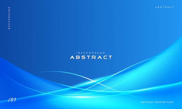 Fond bleu abstrait vagues élégantes