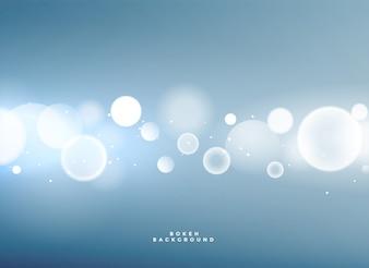 Fond bleu avec des lumières de bokeh