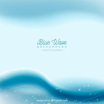Fond bleu avec de belles vagues