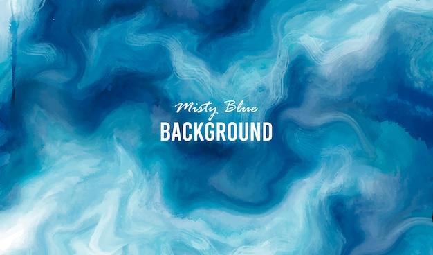 Fond bleu brumeux