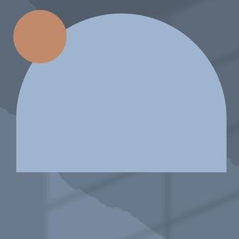 Fond bleu avec cadre en arc