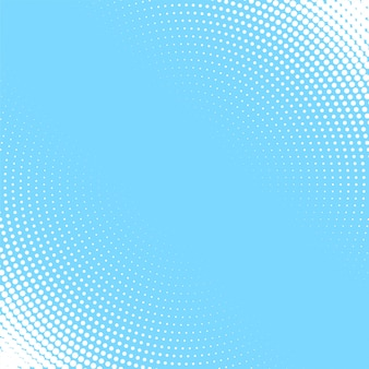 Fond bleu clair avec motif de demi-teintes circulaire blanc