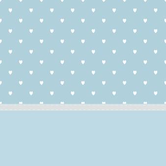 Fond bleu clair avec un beau coeur blanc et de la couture