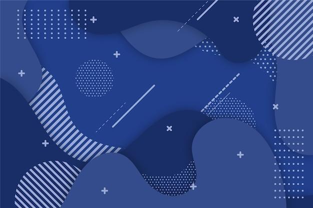 Fond bleu classique avec des points et des lignes