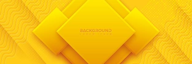 Fond bleu avec composition de couleur orange et jaune.