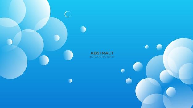 Fond bleu avec concept d'entreprise moderne. couche de papier cercle bleu abstrait. courbes et lignes utilisées pour la bannière, la présentation, la couverture, l'affiche, le papier peint, la conception avec un espace pour le texte