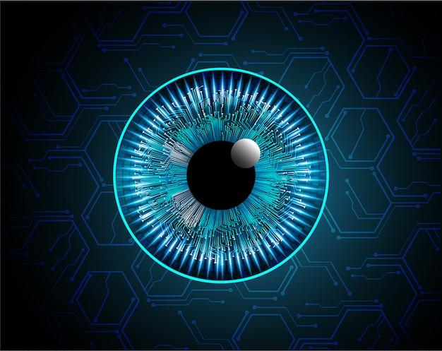 Fond bleu concept de technologie d'avenir cyber circuit