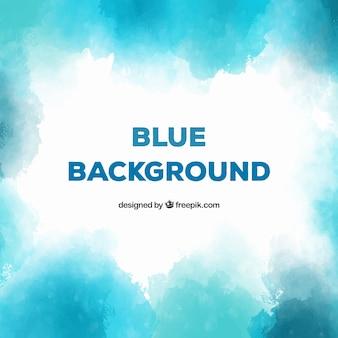 Fond bleu dans un style aquarelle