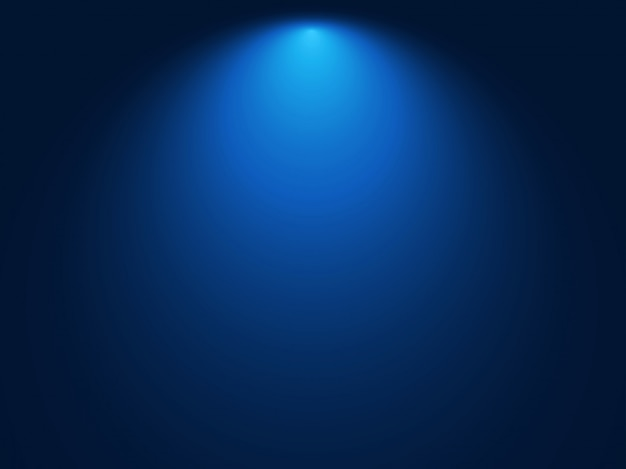 Fond bleu dégradé. effet de lumière spot