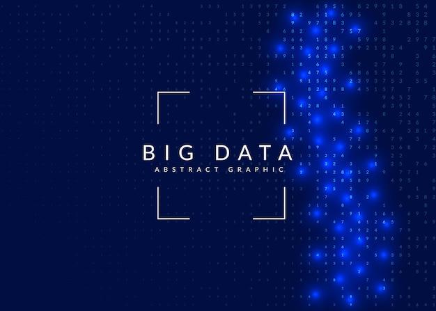 Fond bleu de données volumineuses.