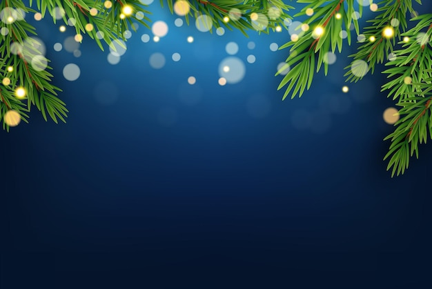 Fond bleu de fête de vacances de noël. modèle d'affiche de bonne année et joyeux noël. illustration vectorielle