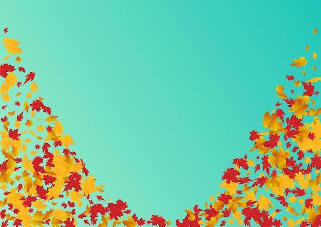 Fond bleu feuillage doré. illustration de la plante d'octobre.