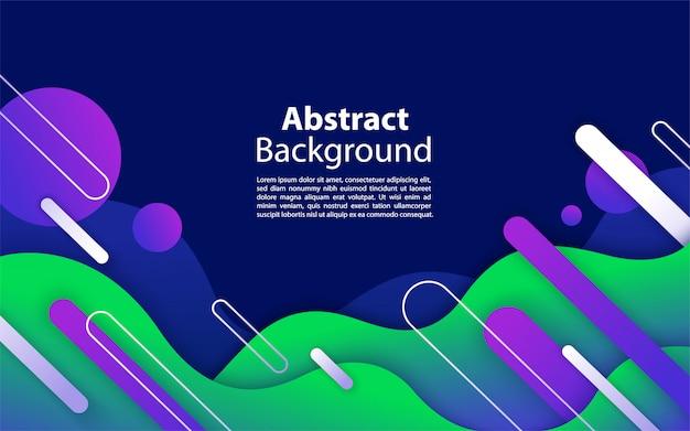 Fond bleu fluide avec composition de forme abstraite