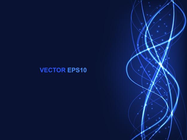 Fond bleu futuriste moderne de haute technologie.