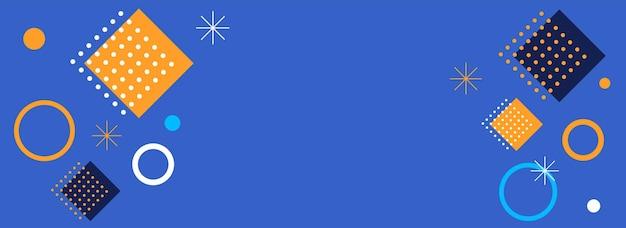 Fond bleu géométrique abstrait avec espace de copie.