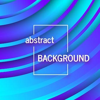 Fond bleu géométrique tendance avec des formes de cercles abstraits. conception de carte. conception de modèle dynamique futuriste. illustration vectorielle