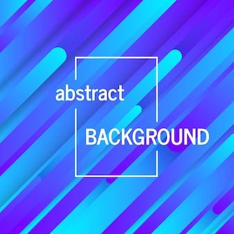 Fond bleu géométrique tendance avec des lignes abstraites. conception de carte. modèle dynamique futuriste. illustration vectorielle