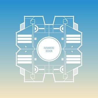 Fond bleu gradient avec un design futuriste